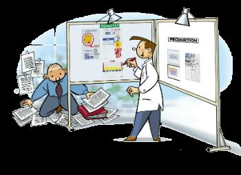 Visuelles Management Karikatur