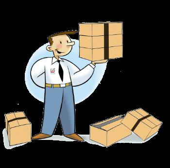 Mascotte SESA SYSTEMS avec carton